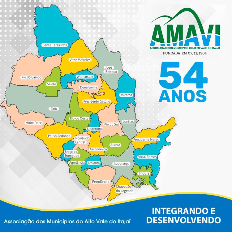 Prefeito de Vitor Meireles assume presidência da Amavi