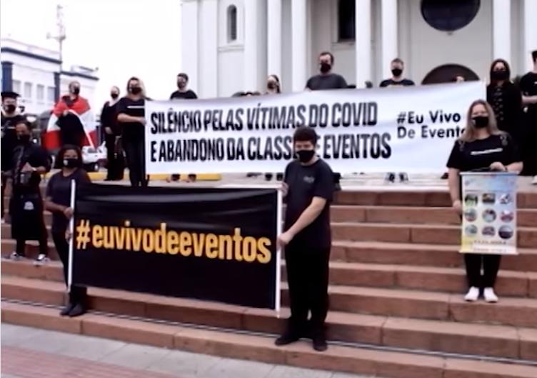 Promotores de eventos no Alto Vale organizam movimento pedindo o retorno das atividades na região