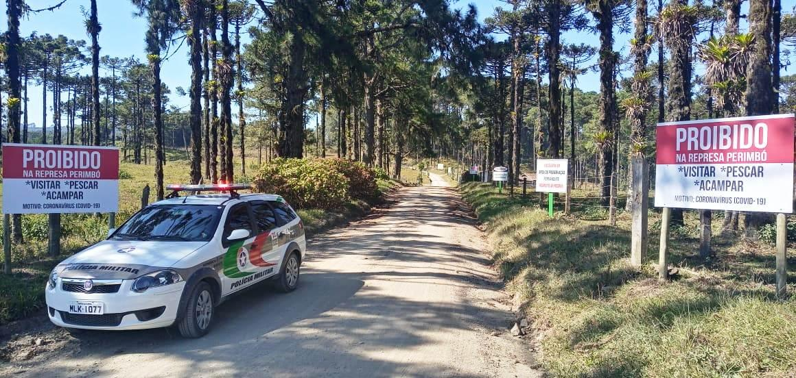Represa Perimbó volta a ser fechada para acesso ao público