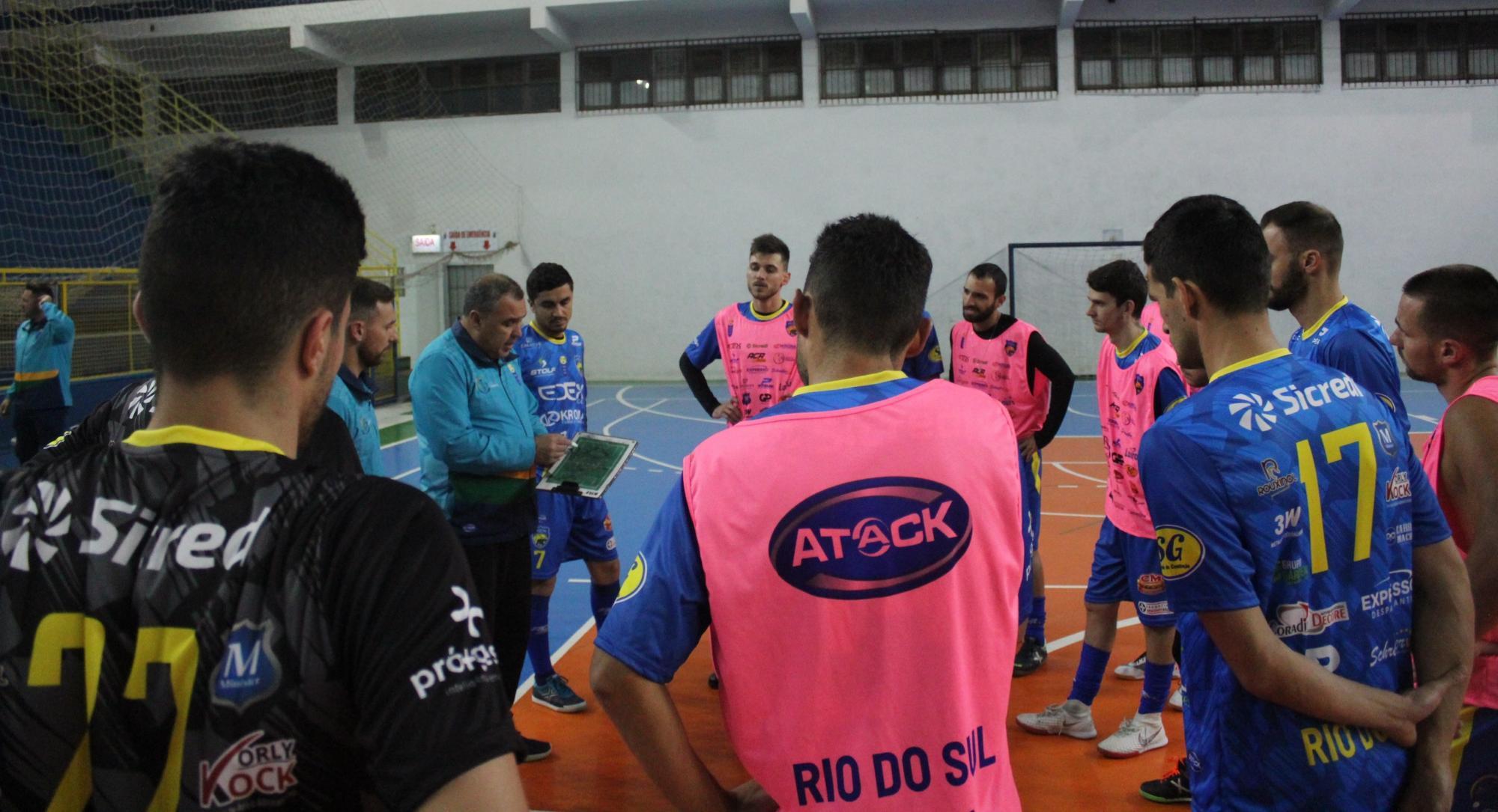 Rio do Sul estreia sábado na Liga Catarinense de Futsal