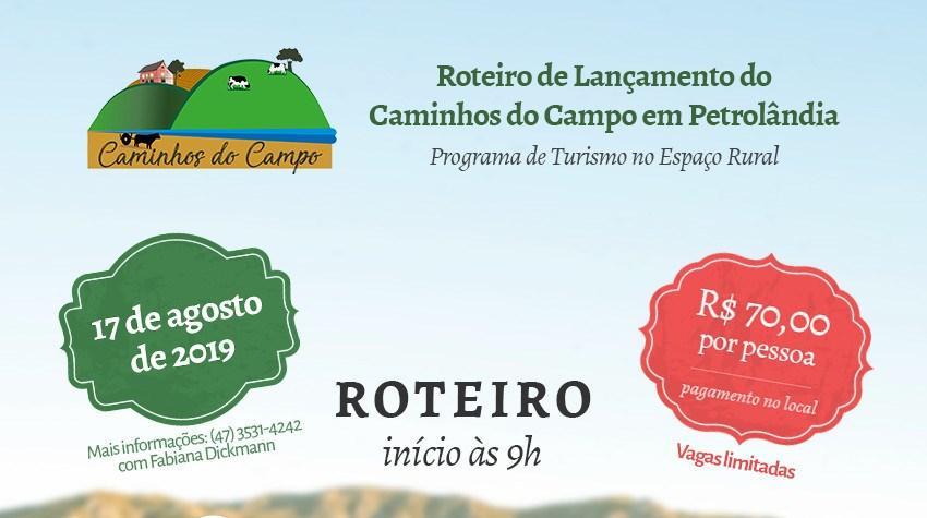 Roteiro turístico Caminhos do Campo em Petrolândia será lançado sábado (17)