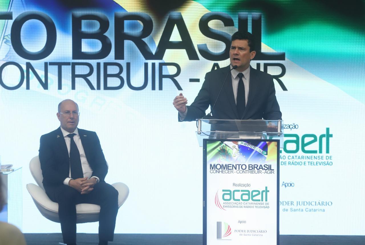 Sergio Moro sugere liderança da ACAERT na campanha de aprovação do pacote anticrime