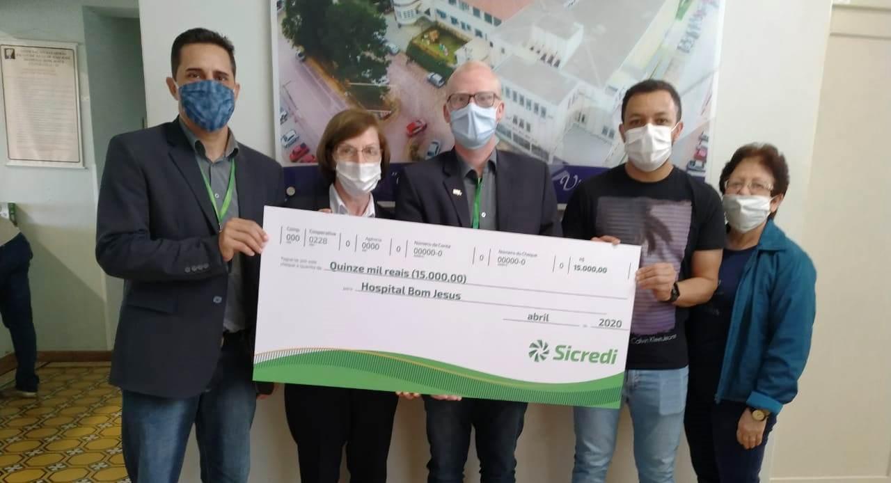Sicredi Integração de Estados destina mais de R$ 35 mil para hospitais da Região da Cebola