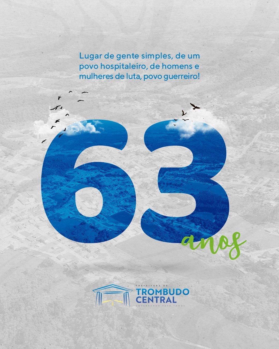 Trombudo Central comemora 63 anos