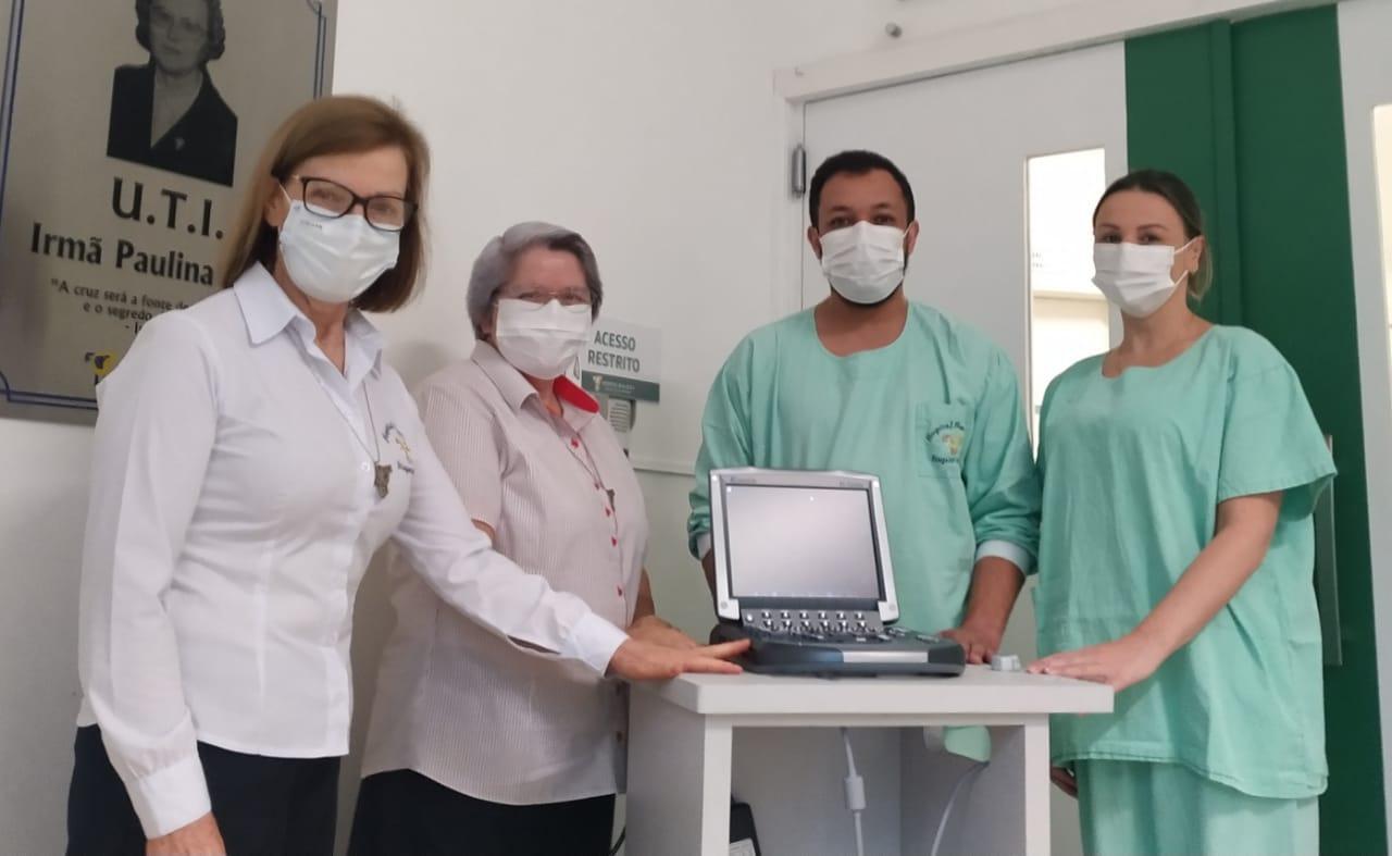 UTI do HBJ recebe por doação aparelho de ultrassonografia portátil