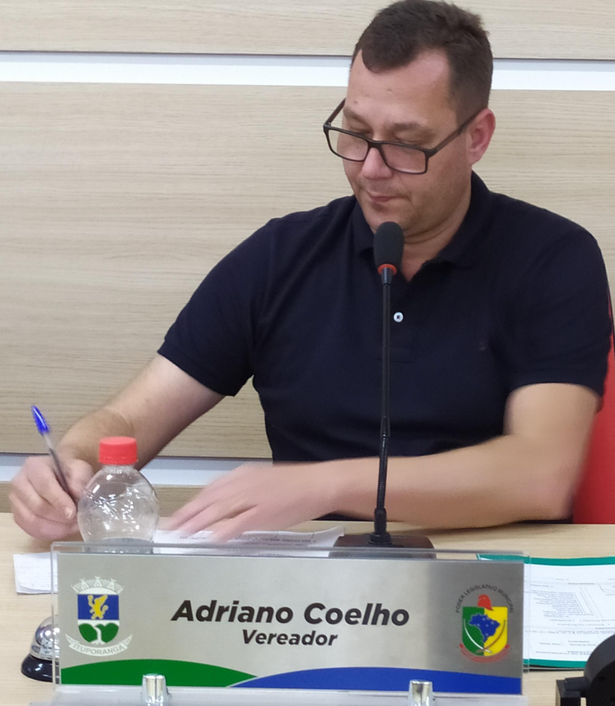Adriano Coelho, presidente da Câmara de Vereadores