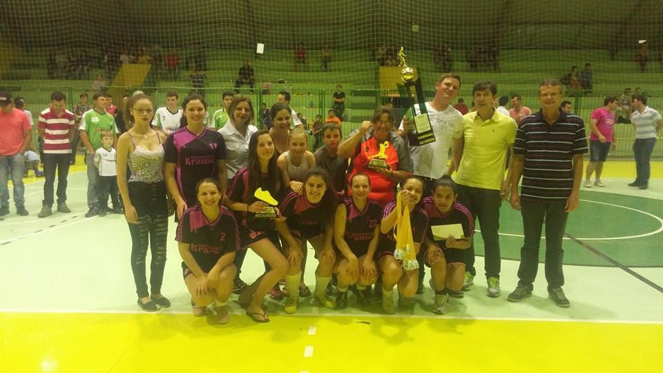 1º Lugar Futsal Feminino