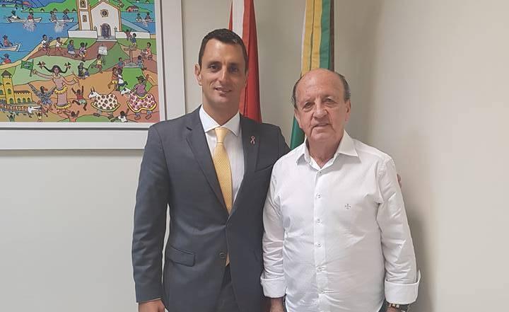 Deputado Estadual João Amin (PP) e o Prefeito de Ituporanga Osni Francisco de Fragas (PSDB)