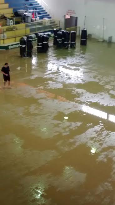 Ginásio pós enchente dia 25 outubro
