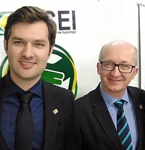 Novo presidente Tiago Eifler e o ex-presidente Cassio Vandresen (Foto: Facebook/Reprodução)