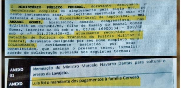 Reprodução da delação do senador Delcídio Amaral, em que cita Lula e Dilma (Reprodução/IstoÉ)