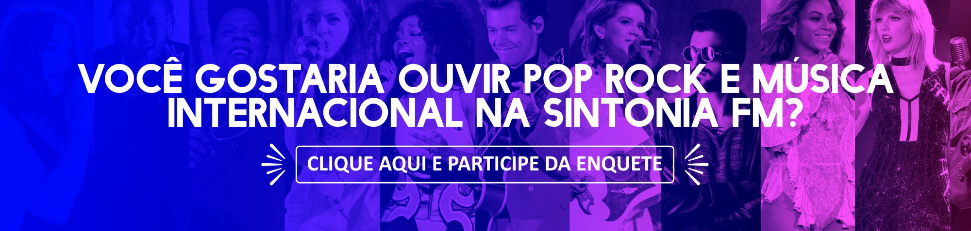 Mais Pop Rock e música Internacional na Sintonia?