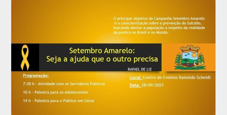 Administração de Chapadão do Lageado promove palestra alusiva ao Setembro Amarelo