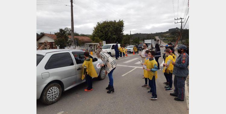 Blitz educativa de trânsito é realizada em Ituporanga