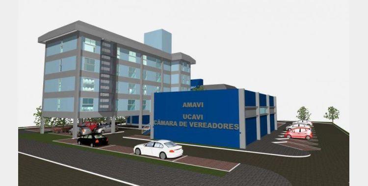 Construção da nova sede da Amavi, Ucavi e Câmara de Vereadores de Rio do Sul terá início em breve