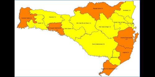 Covid: SC tem 10 regiões em risco alto e seis em risco grave