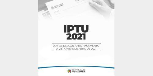 Neste ano Vidal Ramos disponibiliza carnês do IPTU somente de forma online