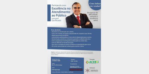 Associação Comercial e Empresarial de Ituporanga realiza na próxima semana curso de excelência no atendimento ao público.