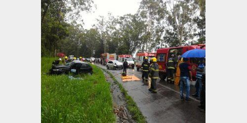 Dois homens morrem em acidente na BR-470 no Alto Vale