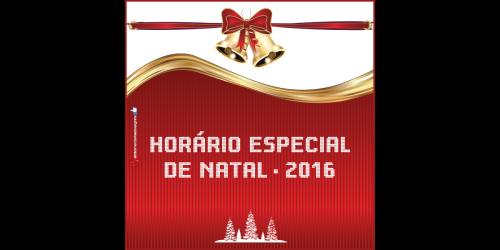 Horário especial de natal inicia neste Sábado em Ituporanga