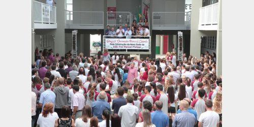 Inaugurada na manha de hoje a nova estrutura da Escola Frei Manoel Philippi