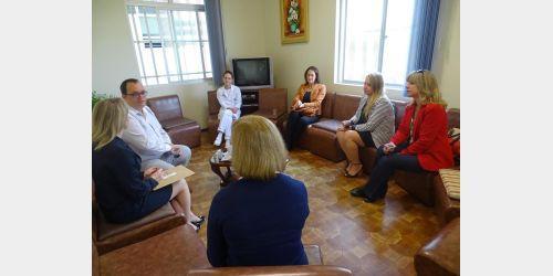 Superintendente da Secretaria de Estado da Saúde visita hospitais do Alto Vale