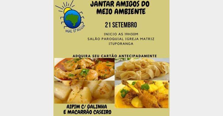 Ong Mãe d'Água promove jantar Amigos do Meio Ambiente