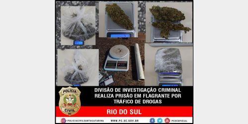 Polícia Civil realiza prisão em flagrante por tráfico de drogas