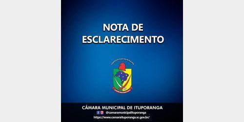 Presidente da Câmara de Vereadores de Ituporanga justifica rejeição do decreto de Calamidade Pública