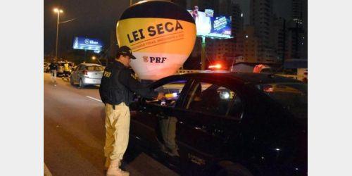 PRF flagra 91 motoristas bêbados nas rodovias federais de SC no fim de semana