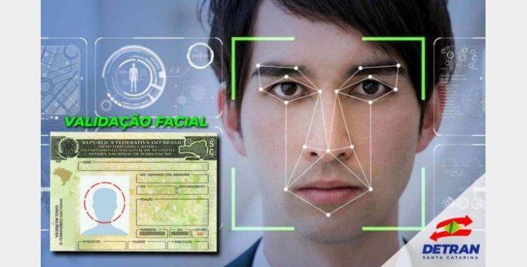 Validação facial: CNH passa a ter novo procedimento de segurança em Santa Catarina